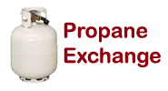 Propane exchange at Tom's Family Market